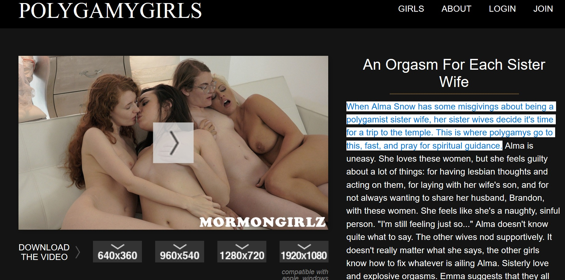 preview image password  for polygamygirls.com